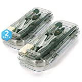 Emraw 9 Piece Math/Geometry Tool Set Includes: Scale-Arm Compass With a Pen, White Eraser,...