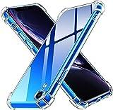 ivoler Coque Compatible avec iPhone XR 6.1 Pouces, Ultra Transparent Étui de Protection en Silicone Antichoc avec Coins Renforcés, Clair Mince Souple TPU Bumper Housse