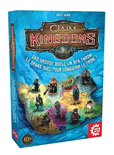 Game Factory Claim Kingdoms, das große Duell um den Thron! Legespiel für 2 Personen, Gesellschaftsspiel, 646269
