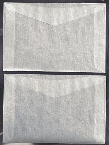 100#8 Glassine Envelopes measuring 6 5/8' x 4 1/2'