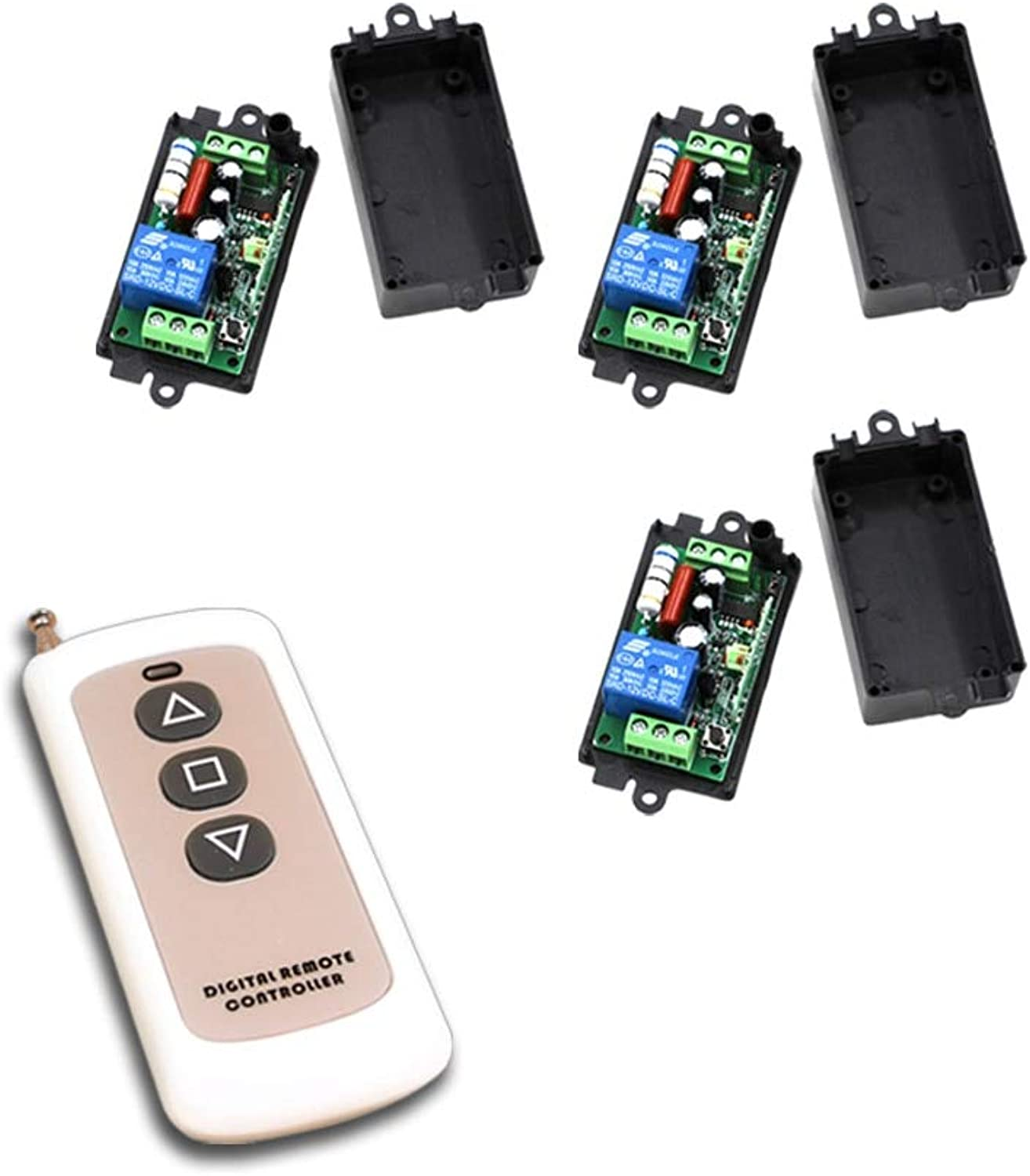 New Type 1CH RF Wireless Remote Control Switch System Transmitter & Receiver for Smart Home Switch 315 433MHZ Good Design  (color  220V 433MHZ)