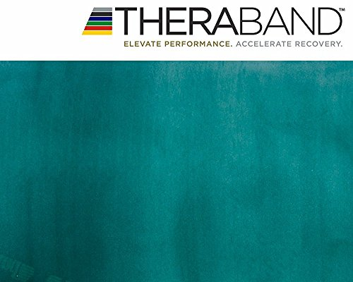 Thera-Band® original Übungsband + Übungsbuch gratis ca. 3m lang (Grün)
