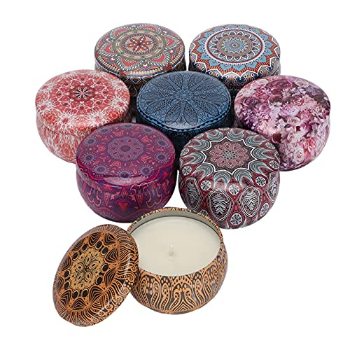 Set di 8 Candele per Aromaterapia Yoga Meditazione Antistress Olio Vegetale Cera di Soia Set di Candele per Aromaterapia per Compleanni, Vacanze, San Valentino, Giorno del Ringraziamento