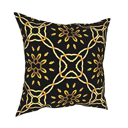 Luxuriöse Kissenbezüge mit marokkanischem arabeskem Muster, für Sofa, Wohnzimmer, Bett, 45,7 x 45,7 cm