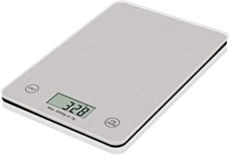 LIUXIN Digital Kitchen Scale, 11lb/5000g Electronic Cooking Food Scale, Weighing Scales with LCD Display, Accurate Gram, Slim Design, for Home, Kitchen, Batteries Included (Color : Silver)