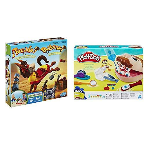 Games Tozudo (Hasbro 48380B09) + Play-Doh PDH Core Dentista Bromista, Multicolor, 1 (Hasbro B5520EU4)