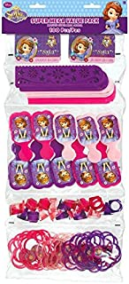 """Amscan Fun Filled Disney Sofia Super Mega Mix Value Set Birthday Party Favour (Pack of 100), Multicolor, 24"""" x 9 1/4"""""""