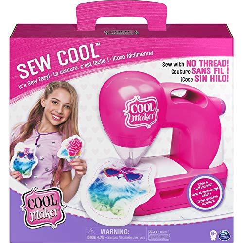 COOL MAKER - SEW COOL - Machine A Coudre Enfants Sans Fil Pour Réaliser 5 Projets Et Avec Sachet de Rembourrage - Loisir Créatif et Jeu Enfant - 6058340 - Jouet Enfant 6 Ans Et +