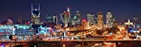 Nashville Skyline PHOTO PRINT UNFRAMED NIGHT Color Downtown City 11.75 inches x 36 inches Photographic Panorama Poster Picture Standard Size 【Creative Arts】 [並行輸入品]