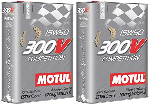 Price comparison product image Motul 300V Competition 15W50 Racing Ester Core Fully Synthetic Engine Oil,  4 Litres