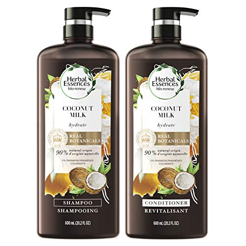 Herbal Essences Shampoo and Conditioner Kit with Natural Source Ingredients Color Safe Bio Renew Coconut Milk 202 fl oz Kit