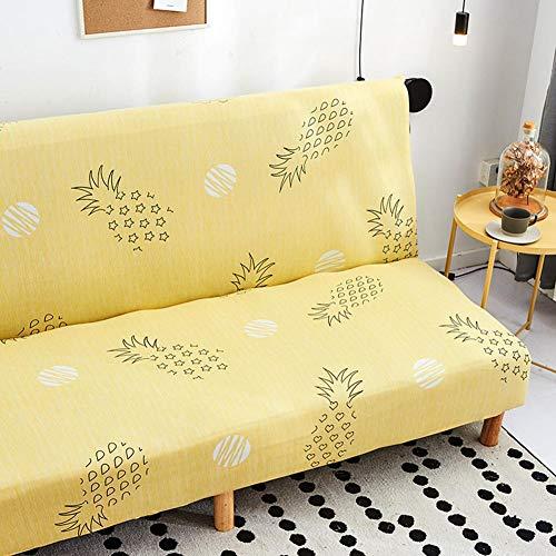 Beaviety Funda elástica plegable para sofá con estampado clásico sin brazos, funda elástica para sofá o sofá