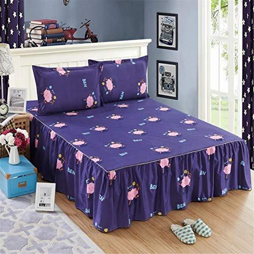 CQZM Modern antislip bedvolant babybed met ruches elastisch beddroog sprei single double bed skirt slaapkamer comfortabel bed rok eenvoudig aan te brengen