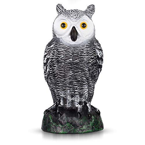 BRITENWAY Ultimate Scarecrow Owl Decoy Statue Realistic Fake Owl Outdoor Pest & Bird Deterrent,...
