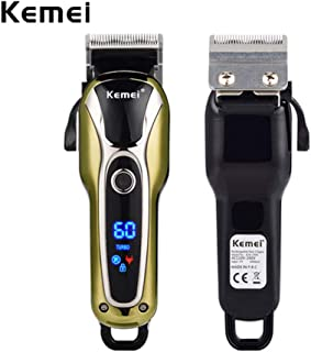 KEMEI Men's Rechargeable Cordless Hair Clipper Razor Electric Professional Shaver Beard Trimmer Grooming Shaving Machine Self Hair Cutting Haircut Trimmer Cutter