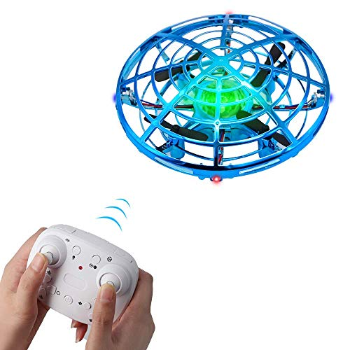 BOMPOW Boys Toys Drone for Kids Remote Control Drone with 2 Speeds and LED Light for Kids Drones (Blue)