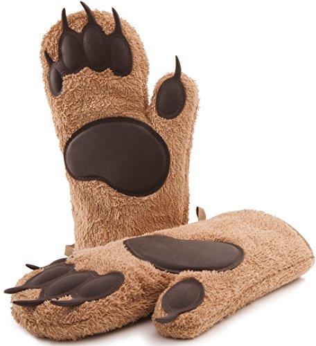 Guantes de horno de diseñador Bear, modelo 2021, largos, guantes para cacerolas, guantes para cocinar, guantes de cocina, 1 par