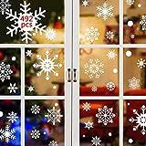 UMIPUBO 492 pegatinas de copos de nieve para ventana o ventana de Navidad, pegatinas de Navidad para decoración navideña (492 unidades)