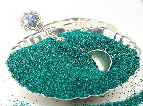Emerald Green Imported German Glass Glitter - 1 Ounce Jar - Fine 90 Grit (Most Popular Grain Size) Sparkly Glass Glitter - 311-9-008