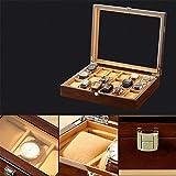 時計収納ボックス 絶妙ウォッチストレージMDFアクリル18スロットウォッチボックス耐久性に優れたウォッチ収納ボックス ジュエリーボックスウォッチボックスヴィンテージジュエリーギフト (Color : Brown, Size : 375x305x85mm)