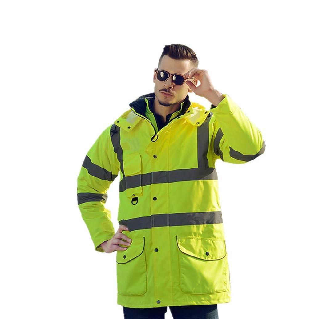 好意ピースハック安全反射ベスト 防水レインジャケットとパンツ、反射野外活動用レインコート (色 : 緑, サイズ : Large)