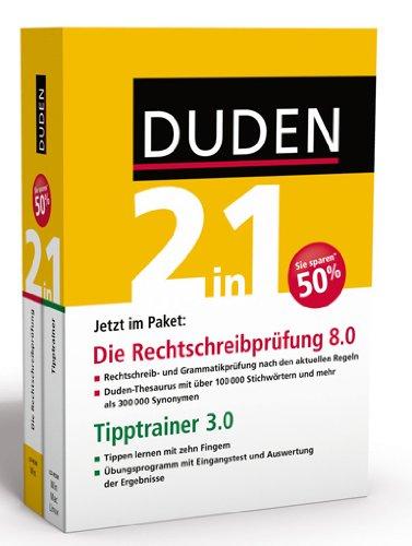 Duden 2in1: Die Rechtschreibprüfung, 8.0 + Tipptrainer 3.0