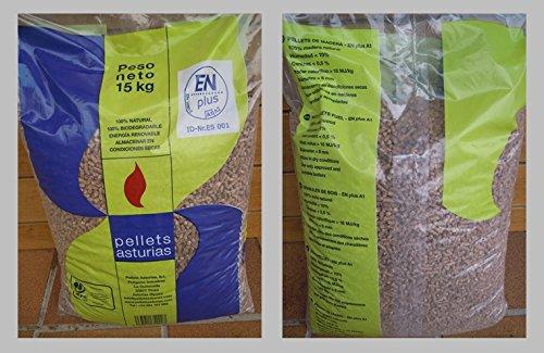 Pellets Asturias; palé de pellets 72 sacos. Certificado ENPlusA1. Para estufas y...