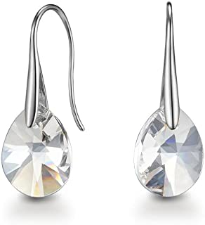 Mestige Pascal Earrings with Swarovski® Crystals (Silver) Gifts Women Girls, Classic Drop Hook Dangle-Earrings