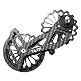 LINGMAI Road Cyclocross Bicycle Bike OSPW Oversized Derailleur Pulley Wheel System for Shimano sram Dura Ace/Ultegra5700/5800/6800/ R8000,8050,9150,9100 (SD5 Black(10s/11s/Red/Force/Rival))
