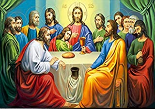 LAST SUPPER UNFRAMED Holographic Wall Art-POSTERS That FLIP and CHANGE images-Lenticular Technology Artwork--MULTIPLE PICTURES IN ONE--HOLOGRAM Images Change--Technology by THOSE FLIPPING PICTURES