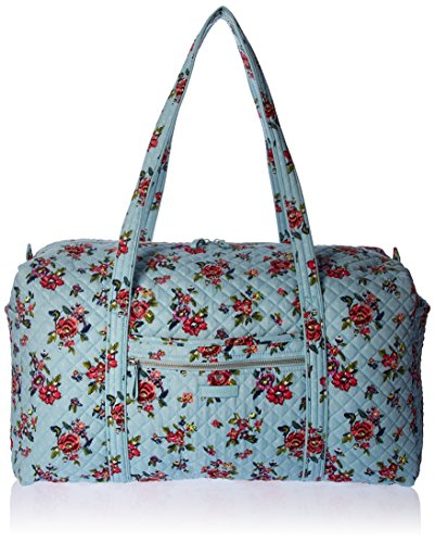 Vera Bradley Women's Signature Cotton Large Travel Duffel Travel Bag, Water Bouquet, One Size