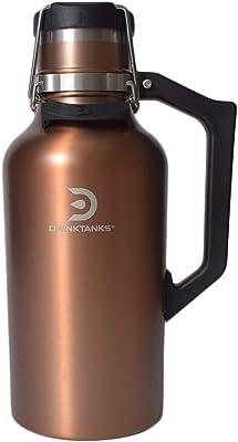 ドリンク タンクス 水筒 Growler 64oz 1.9L 真空断熱グラウラー 大容量 Copper [並行輸入品]