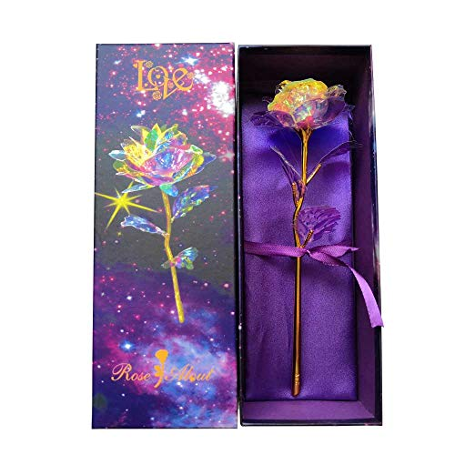 KIRIFLY Artificial Rose Gifts Fake Flowers Roses Presents for Women Plastic Cellophane Flower...