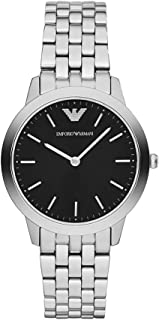 Emporio Armani Womens Quartz Watch with Stainless-Steel Strap, Silver, 16 (Model