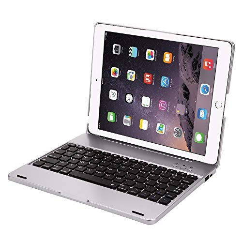 GHC PAD Cases & Covers For iPad 2 3 4 New 9.7'', ABS Keyboard Case Bluetooth Wireless Keyboard Case for iPad 2 iPad 3 iPad 4 (Color : Silver)