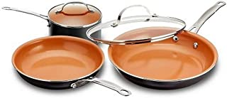 Gotham Steel 5 Piece Kitchen Essentials Cookware Set with Ultra Nonstick Copper Surface Dishwasher Safe, Cool Touch Handle...