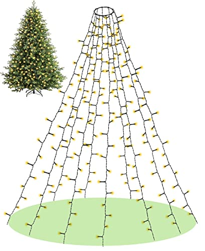 Elegear Luces Arbol Navidad, 2M 400LED Cadena Luces IP44 Impermeable Decoración de...
