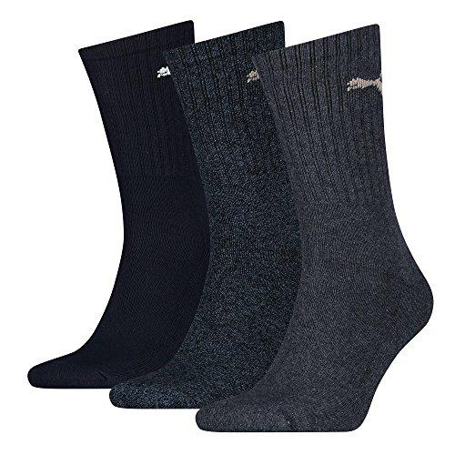 Puma Sportlifestyle Unisex Crew Sockes. 6er Pack Socken für Sport & Freizeit, Charge 2015 (43/46, Navy Mix)