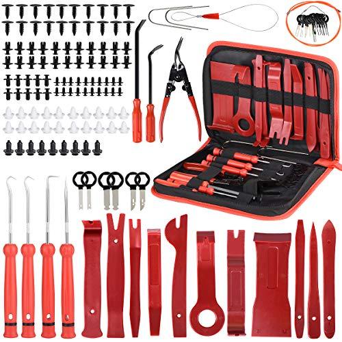 Ensemble de 139 outils de démontage de garnitures, de panneaux de portes de voiture Avec broches de retenue, ensemble à pince et extracteur d'attaches