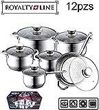 Juego de utensilios de cocina Royalty Line de acero inoxidable de 12 piezas