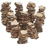 Kurtzy Rodajas de Madera Natural sin Acabado (Pack de 500 g) Trozo Madera Tamaños desde 2 a 5,5 cm...