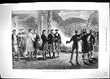 Impresión Antigua de las Faldas Escocesas Escocesas Agradables 1881 de los Soldados de Príncipe País De Gales Escocia de la Montaña
