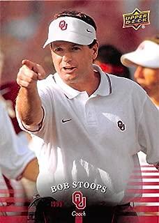 Bob Stoops football card (Oklahoma Sooners) 2011 Upper Deck #79 Coach since 1999
