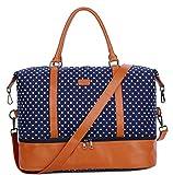BAOSHA HB-28 Ladies Women Canvas Travel Weekender Bag Overnight Carry-on Shoulder Duffel Tote
