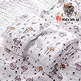 Chickwin Mantas de Muselina Bebés Recién Nacidos, Toalla de Baño Impresión Caricatura Linda,Suave Transpirables Algodón Muselina Swaddle Unisex Mantas para Bebés (110x108cm,Seta Roja)