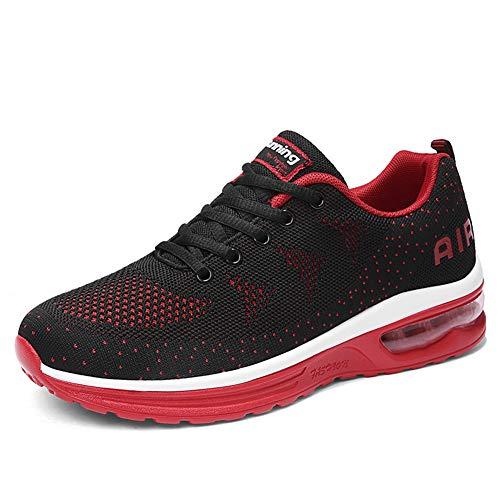 Scarpe da Ginnastica Uomo Donna Sportive Sneakers Running Basse Basket Sport Outdoor Fitness BlackRed38