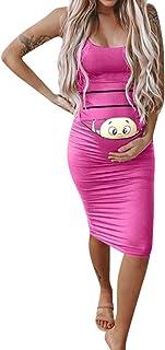 Maternity dress Slim Fit Women's Fashion Cute Baby Printed Pregnant Summer Sleeveless 2019 New