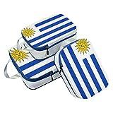 Juego de 3 Cubos de Embalaje de la Bandera de Uruguay organizadores de Equipaje de Viaje