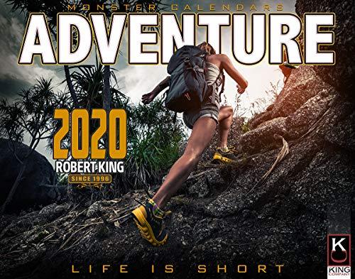 2020 Adventure Calendar of Hiking, Biking, Climbing, Off Road, Exploring, by The KING Company/Monster Calendars