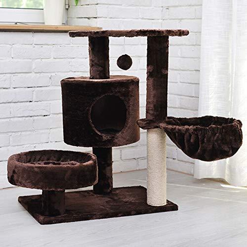 HO-TBO Katzenspiel-Baumturm, Winter-warme Katze Steht Katze Klettergerüst mit Cat Net Katze Kratzbaum Turm Exklusiver Raum (Color : Brown, Size : One Size)